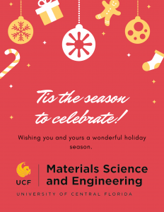 Happy Holidays from UCF-MSE