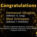 Congratulations: North American Materials Colloquium Series: MSE – UCF