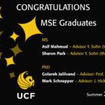 CONGRATULATIONS MSE Graduates