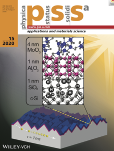 MSE research on solar energy technologies featured on the cover of physica status solidi (a)