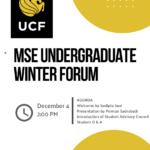 2020 Fall MSE UG Forum Q & A